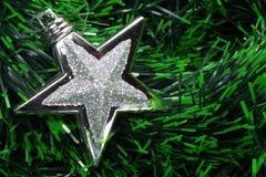 Silberner Weihnachtsstern lizenzfreie stockfotografie