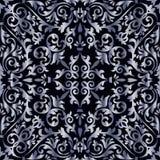 Silbernes barockes Muster Lizenzfreies Stockfoto