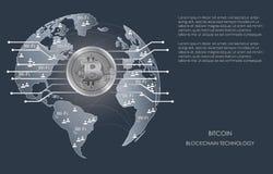 Silbernes bitcoin digitale Währung Stockbild