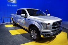Silbernes Ford F150 Lizenzfreies Stockfoto