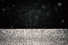 Silbernes Funkeln auf schwarzem Hintergrund Lizenzfreie Stockfotos