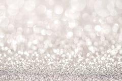 Silbernes Funkelnlicht lizenzfreies stockfoto