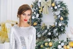 Silbernes Glättungskleid lizenzfreies stockfoto