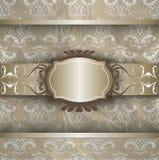 Silbernes Goldmuster Stockbilder