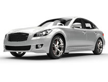 Silbernes großes Luxusauto Lizenzfreie Stockfotos