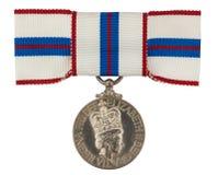 Silbernes Jubiläum-Medaille Stockbilder