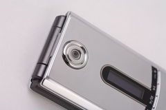 Silbernes Kameratelefon Lizenzfreie Stockfotografie