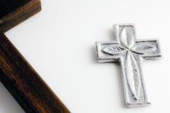 Silbernes Kreuz Stockbilder