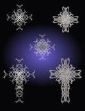 Silbernes Kreuz lizenzfreie abbildung