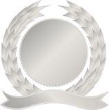 Silbernes Medaillon stockfoto