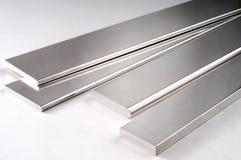 Silbernes Metall Rod stockfoto