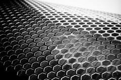 Silbernes Metallineinander greifen stockfoto