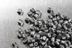 Silbernes metallisches Polymer Stockbild