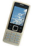 Silbernes Mobiltelefon lizenzfreie stockfotografie