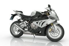 Silbernes Motorrad Stockbild
