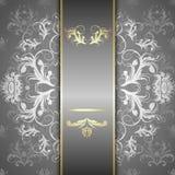 Silbernes Muster auf einem schönen Hintergrund Lizenzfreies Stockfoto