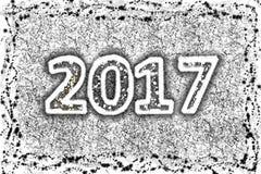 2017 silbernes neues Jahr stock abbildung