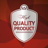 Silbernes Produkt Aufkleber hoher Qualität Stockbilder