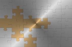 Silbernes Puzzlespiel Lizenzfreie Stockfotografie