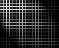 Silbernes Rasterfeld mit Lichteffekt Stockbilder