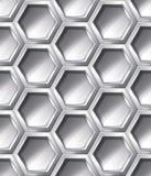 Silbernes realistisches nahtloses Muster Stockfoto