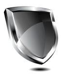 Silbernes Schild Stockfoto