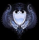 Silbernes Schild Stockbilder