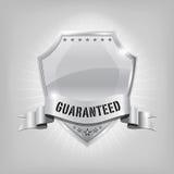 Silbernes Schild der glatten Sicherheit - GARANTIERT lizenzfreie abbildung