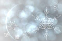 Silbernes Schneeflocken-Musterdesign Stockbild