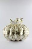 Silbernes Schnitzen der thailändischen Art Stockbild