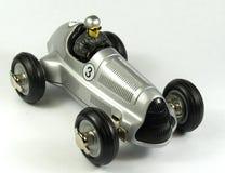 Silbernes Spielzeug bolid stockfoto