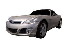 Silbernes Sport-Auto Stockfotografie