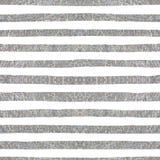 Silbernes strukturiertes nahtloses Muster von Streifen Stockfotos