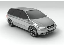 Silbernes vagon Auto stock abbildung
