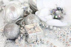 Silbernes Weihnachten stockfotos