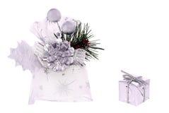 Silbernes Weihnachten. Stockbilder