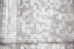 silbernes Weihnachten-bokeh Lizenzfreies Stockfoto