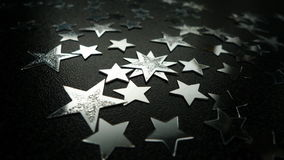 Silbersterne Lizenzfreies Stockbild