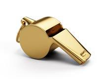 Silbido del oro stock de ilustración