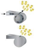 Silbido y dinero Imagen de archivo