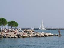silboat bay Zdjęcia Royalty Free