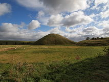 Silbury小山在威尔特郡英国 免版税库存图片