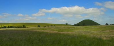 Silbury Hill. Famous prehistoric place, Silbury Hill, Wiltshire, England Stock Images