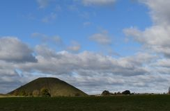 Silbury Hill. Prehistoric artificial chalk mound. Avebury Wiltshire near Stonehenge Stock Photography