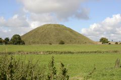 Silbury Hill in Wiltshire, England Royalty Free Stock Photos