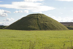 Silbury Hill in Wiltshire, England Royalty Free Stock Image