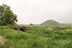 Silbury wzgórze Avebury Wiltshire Zlany Kindom obraz royalty free