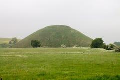 Silbury wzgórze Avebury Wiltshire Zlany Kindom zdjęcie royalty free