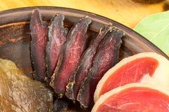 Silced-Trockenfleisch stockbild