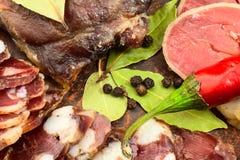 Silced-Trockenfleisch lizenzfreies stockbild